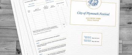 City of Plymouth Festival Entry Form Design