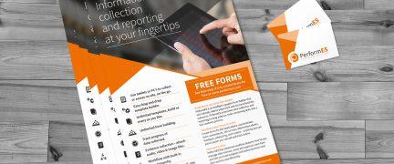 PerformES Leaflet and Business Card Design