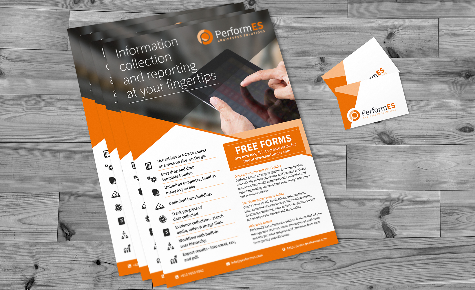 Print design bigbluecurrant performes leaflet and business card design reheart Gallery