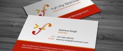 Run My Festival Business Card Design
